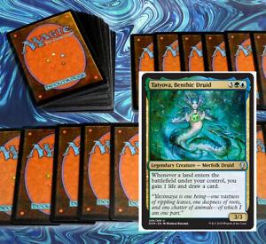 mtg BLUE GREEN TATYOVA COMMANDER EDH DECK Magic the Gathering rare cards tishana