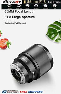 VILTROX PFU RBMH 85mm F1.8 AF lens Auto focus lens For Fuji X mount camera