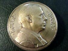 Médaille bronze médecine Louis BAZY de H. DROPSY 1946