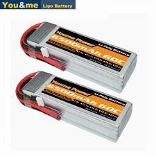 2pcs Youme 4S 6500mAh 14.8V 60C LiPO Battery T plug for RC Drone Car Truck