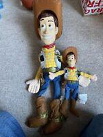 2 Vintage Original Sheriff Woody Soft Plush Toy From Disney Pixar Toy Story 1995