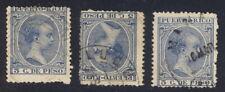 Puerto Rico, 1890's, 3c stamps with postmarks COAMO, LUQUINO, MANATI