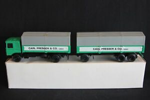 """Conrad M.A.N Büssing 2 Axle truck with trailer """"Carl Presser"""" 1:50 #3031 (J&KvW)"""