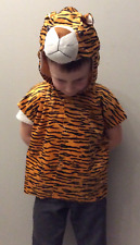 Fancy Dress Kids Tiger Costume - Tabard and Headpiece (2 Sizes) Instant Dress Up