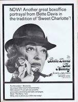 The Nanny 1965 ORIGINAL Vintage 9x12 Industry Ad Bette Davis
