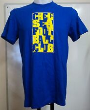 CHELSEA POP ART BLUE COTTON TEE SHIRT BY ADIDAS ADULTS SIZE EXTRA SMALL BNWT