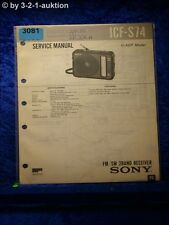 Sony Service Manual ICF S74 2 Band Receiver (#3081)