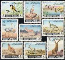 Jordan 1968 Ostriches/Ducks/Ibex/Oryx/Birds/Nature/Deer/Animals 9v set (n28422)