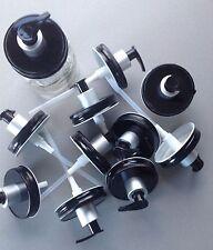 10 Mason Jar Soap/Lotion Dispenser Lids w/ Pumps. Black w/ Silver & Black Pumps