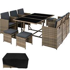 Polyrattan Sitzgarnitur Gartenmöbel Lounge Stuhl Tisch Hocker Natur B-Ware