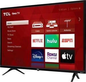 """TCL 32S331 32"""" HD LED Smart TV - Black"""