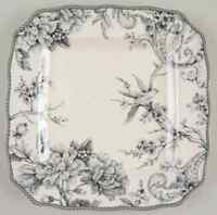 222 Fifth ADELAIDE-GREY & WHITE Square Dinner Plate 9831736
