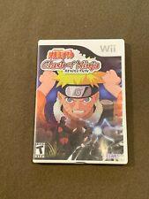 Nintendo Wii Video Game Naruto Clash of Ninja Revolution TOMY Rated T