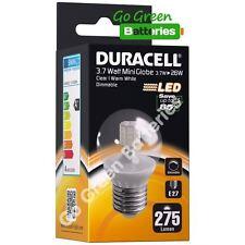 1x Duracell E27 3.7 Watt (= 26W) Mini Globe LED Screw Bulb 275 Lumens Warm White