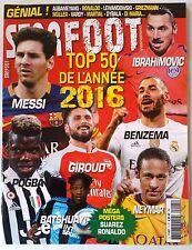 Star Foot n°5 du 02/2016; Top 50 de l'année 2016 + posters Ronaldo, Suarez