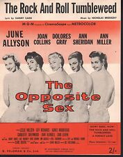 Rock and Roll Tumbleweed June Allyson Joan Collins The Opposite Sex Sheet Music
