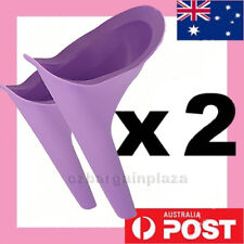 2 x Portable Female Woman Ladies She Urinal Urine Wee Funnel Camping Travel Loo