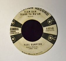 50's ROCKER Paul Hampton Columbia PROMO 41145 Slam Bam Thank Ya Ma'am