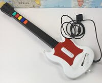 SHIPS SAME DAY PS2 Guitar Hero Red Octane SG Gibson Red & White Wired Controller