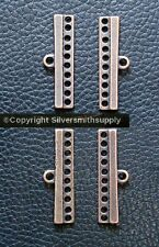 10 hole separator spacer bars multiple strand necklace copper plt 4pcs fpc171