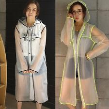 Women Plastic Raincoat Transparent Waterproof Rain Style Jacket Clear Eva Runway