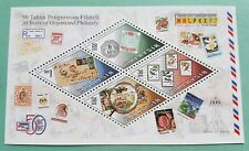 1997 Malaysia Philately MALPEX '97 MS Overprint INDEPEX '97 India Stamp Expo
