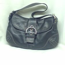 Coach authentic  black leather soho shoulder bag very fine condition