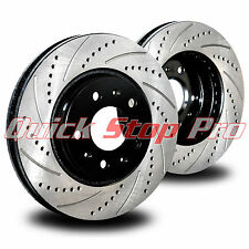 FOR015F Focus 05-07 Performance Brake Rotor New Front pair Drill + Curve Slot
