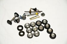Assorted 1/32 scale slot car wheels,tires,axles,gears