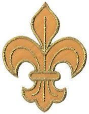 écusson ECUSSON PATCHE PATCH THERMOCOLLANT FLEUR DE LYS  OR GOLD DIM. 7,5 X 6 CM