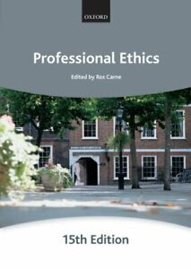 Professional Ethics (Bar Manuals) by Carne, Ros Paperback Book The Cheap Fast