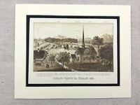 1886 Antik Aufdruck Landschaft Die Schlacht Der Sempach Leopold III Duke Austria