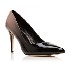 Moda in Pelle Carloni Womens UK 5 EU 38 Black Ombre Patent Pointed Court Shoes