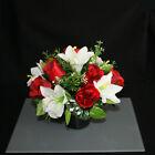 Grave Artificial/silk Flower Pot Arrangement in Memorial Pot/Grave arrangement