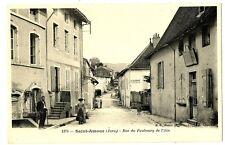 CPA 39 Jura Saint-Amour Rue du Faubourg de l'Ain animé