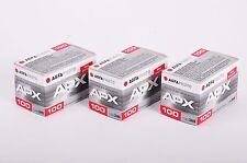 3X AGFA APX 100  135-36 / Pellicola negativo bianco e nero