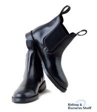 Rhinegold Childrens Classic Leather Jodhpur BOOTS Size 4 Black