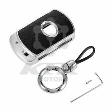 Aluminum Car Key Chain Shockproof Cover Case For Toyota Sienna 2011-2020 Silver