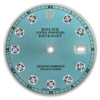 REFINED MENS SS DATEJUST ICE BLUE DIAMOND DIAL RT FOR ROLEX-36