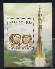 Vietnam   1986   Sc # 1621   Space   s/s   MNH   (10475-5)