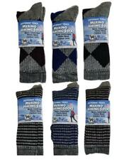6 Pairs Outdoor Trial 71% Merino Wool Blend Thermal Hiking Boot Socks USA Made