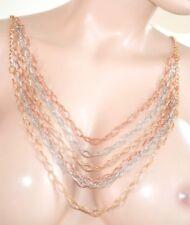 COLLAR largo mujer oro rosa plata diamant elegante ceremonia fiesta ожерелье 340