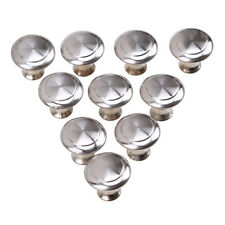 10x Small Stainless Steel Drawer Knob Cupboard Cabinet Jewelry Box Pull Handle