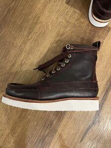 Clarks Men's Wallace Hike Leather Boots Bordeaux size 8