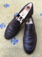 Gucci Mens Shoes Brown Leather Loafers UK 10 US 11 EU 44 Made in Italy