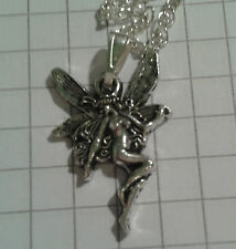 """TIBETAN SILVER """"FAIRY ON SILVER PLATED CHAIN NECKLACE 18""""o r 20"""""""