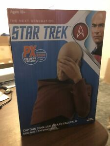 Star Trek TNG Captain Jean Luc Picard Facepalm Bust SDCC 2020 Exclusive