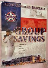 2002 Texas Rangers Baseball poster, A-Rod, Pudge, Palmeiro, Kapler, MLB