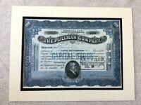 Americana Ferrovia Magazzino Certificato Pullman Company Treno Carrozza 1920s