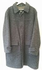 WELLINGTON OF BILMORE SMART CHARCOAL WOOL MIX OVERCOAT COAT SIZE XL Reduced!